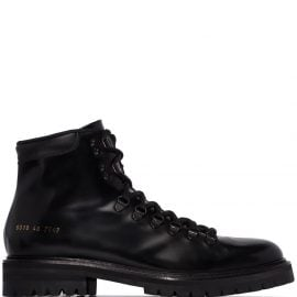 Common Projects ankle hiking style boots - Black