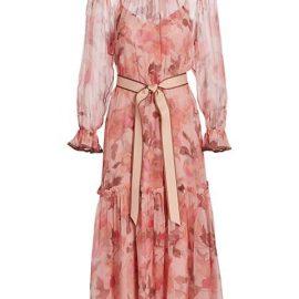 Concert Sheer Floral Midi Dress