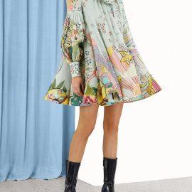 Concert Tie mini dress