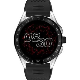 Connected Modular Black Ceramic, Stainless Steel & Rubber Strap Smartwatch