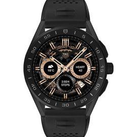 Connected Modular Black Ceramic, Titanium & Rubber Strap Smartwatch