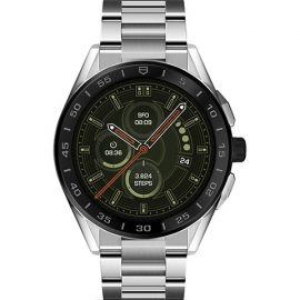 Connected Modular Ceramic & Stainless Steel Bracelet Smartwatch