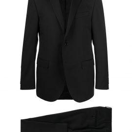 Corneliani single-breasted wool suit - Black