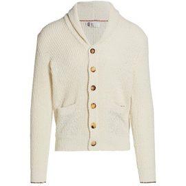 Cotton & Linen Shawl Collar Cardigan