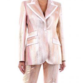 DOLCE & GABBANA Jackets Blazer Women Pink gold
