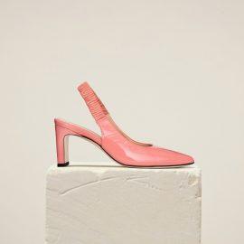 Dear Frances - Women's Black Leather High Heel Slingback