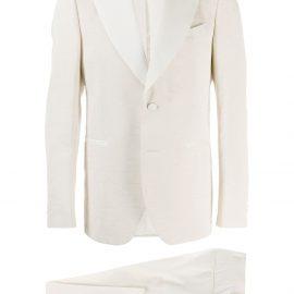 Dell'oglio slim-fit formal suit - Neutrals