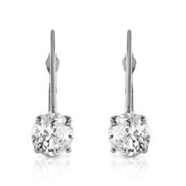 Diamond Drop Earrings 1 ctw in 9ct White Gold