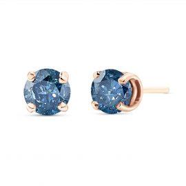 Diamond Stud Earrings 1 ctw in 9ct Rose Gold