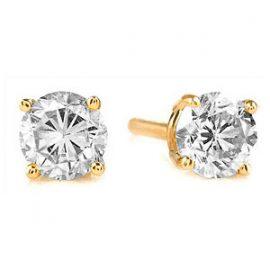 Diamond Stud Earrings 1.5 ctw in 9ct Gold