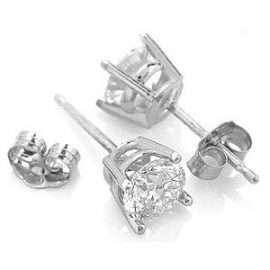Diamond Stud Earrings 1.5 ctw in 9ct White Gold
