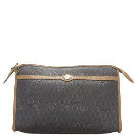 Dior Black Plastic PVC Honeycomb Clutch Bag