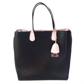 Dior Black/Pink Addict Shopping Tote Vertical Bag