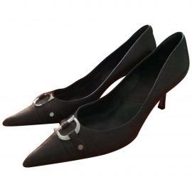 Dior Dior Cherie Pointy Pump Brown Leather Heels for Women