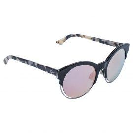 Dior Havana/ Green & Pink Mirrored DiorSideral1 Round Sunglasses