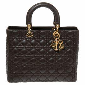 Dior Lady Dior leather travel bag