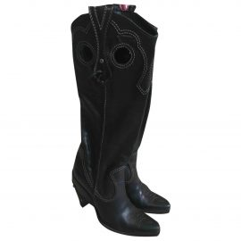 Dior Leather cowboy boots