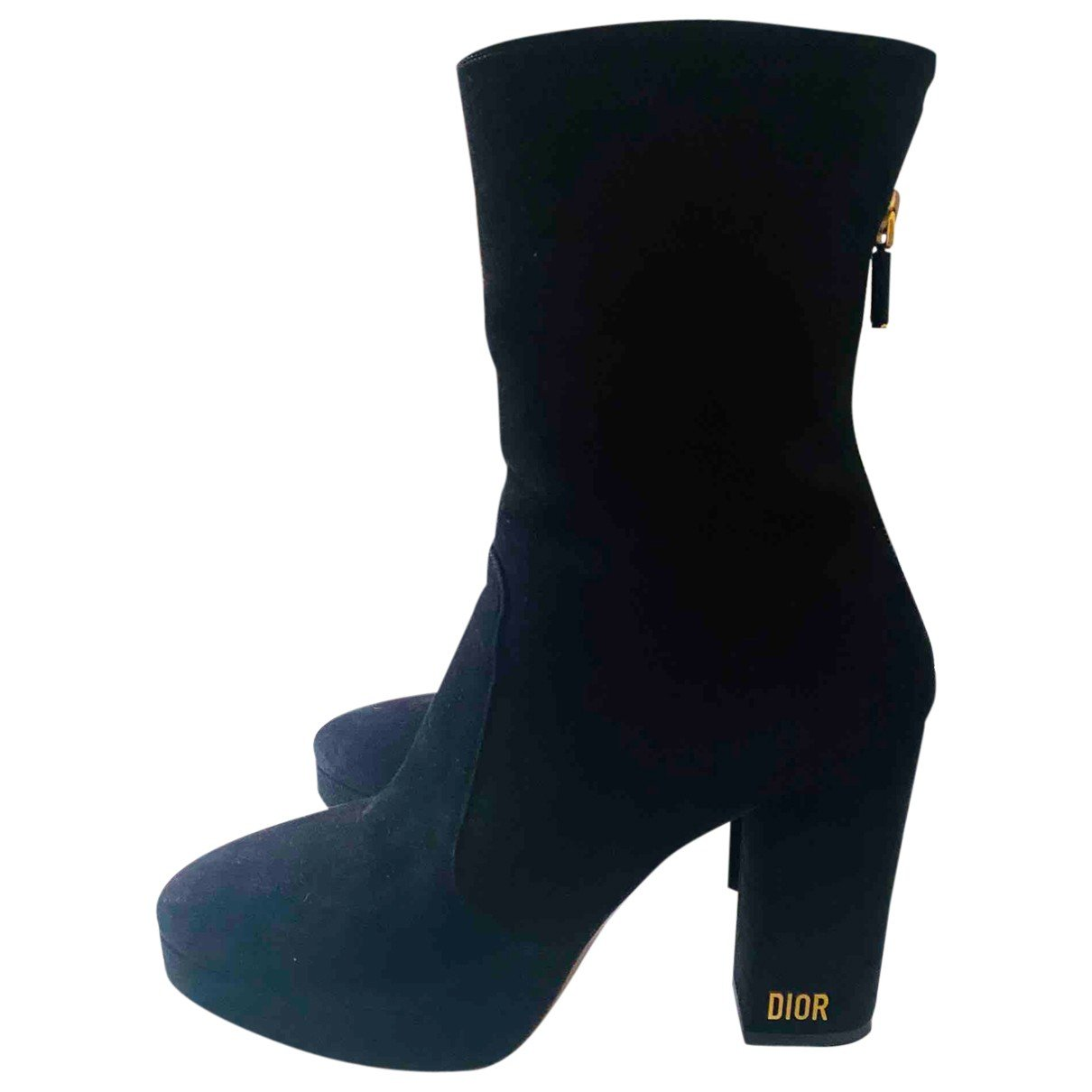 Dior N Black Suede Ankle boots for Women