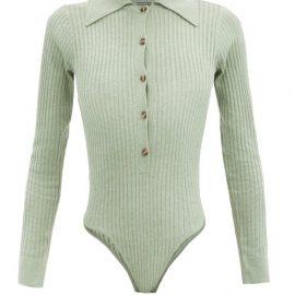 Dodo Bar Or - Pollie Cutout-back Jersey Bodysuit - Womens - Light Green