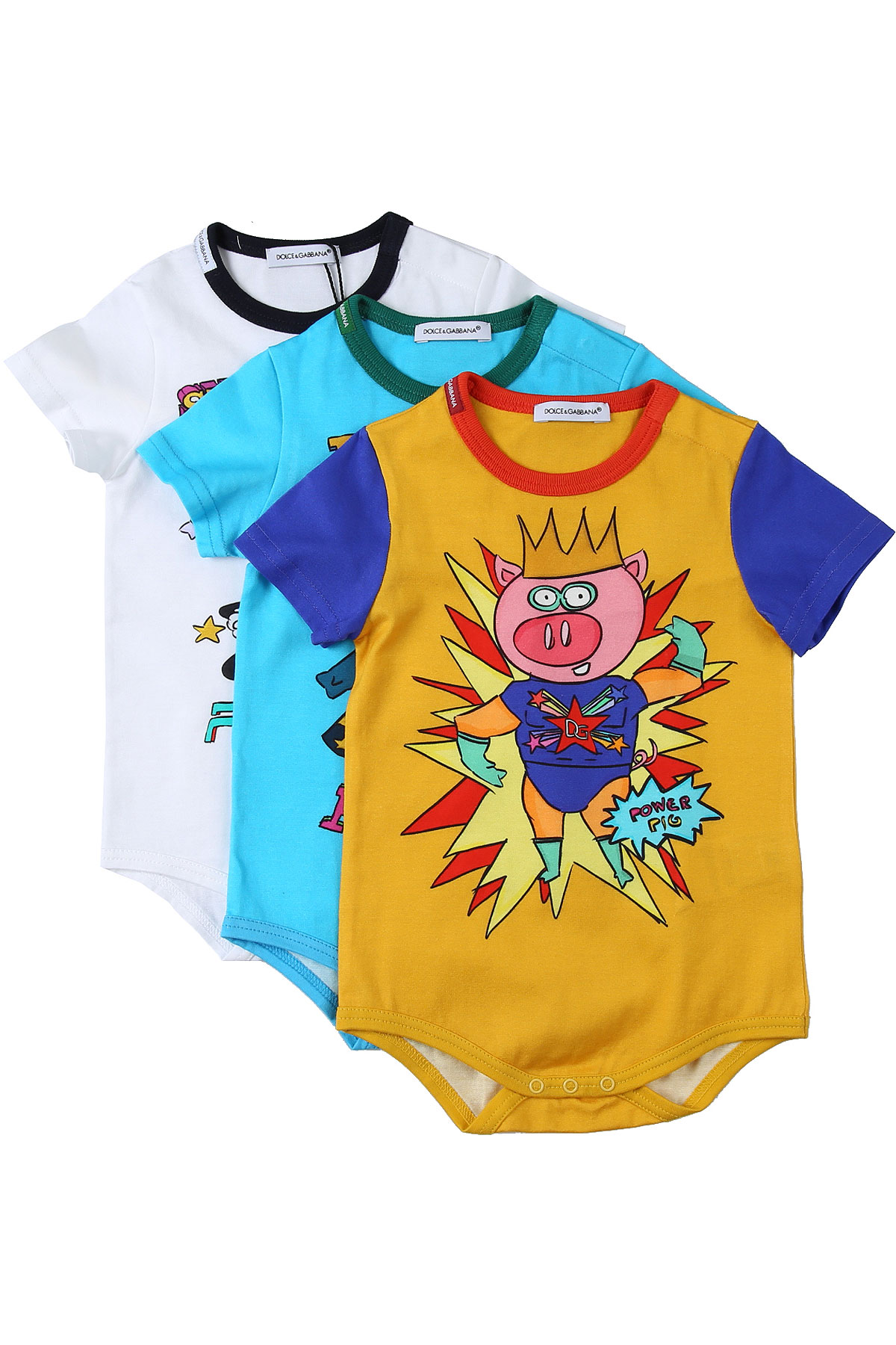 Dolce & Gabbana Baby Bodysuits & Onesies for Boys On Sale in Outlet, Multicolor, Cotton, 2019, 18M 24M