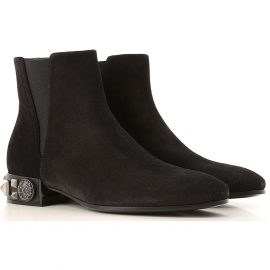 Dolce & Gabbana Chelsea Boots for Women On Sale, Black, suede, 2021, 2.5 3.5