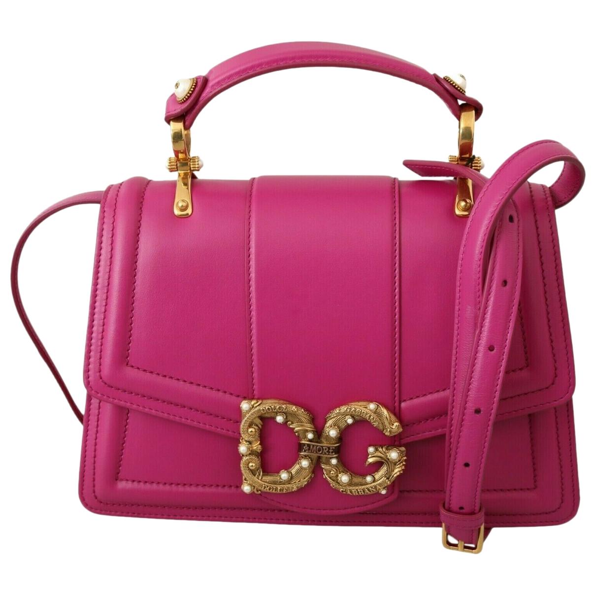 Dolce & Gabbana DG Amore Pink Leather Handbag for Women
