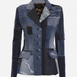 Dolce & Gabbana Dolce Single-breasted Jacket In Patchwork Denim