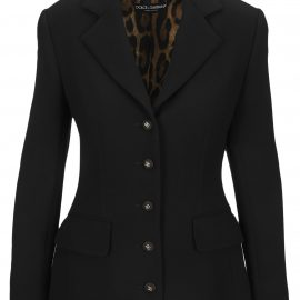 Dolce & Gabbana Dolce & gabbana Single-breasted Wool Crepe Dolce Jacket With Dg Buttons