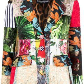 Dolce & Gabbana Dolce patchwork blazer - Green