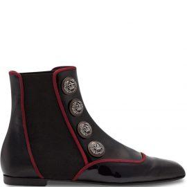 Dolce & Gabbana Jackie button-embellished Chelsea boots - Black