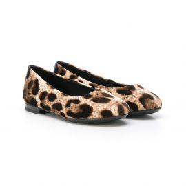 Dolce & Gabbana Kids leopard-print ballerina flats - Neutrals