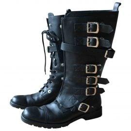 Dolce & Gabbana Leather Biker Boots