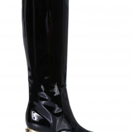 Dolce & Gabbana Logo Heel Over-the-knee Boots