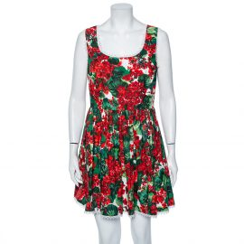 Dolce & Gabbana Multicolored Portofino Print Cotton Mini Dress L