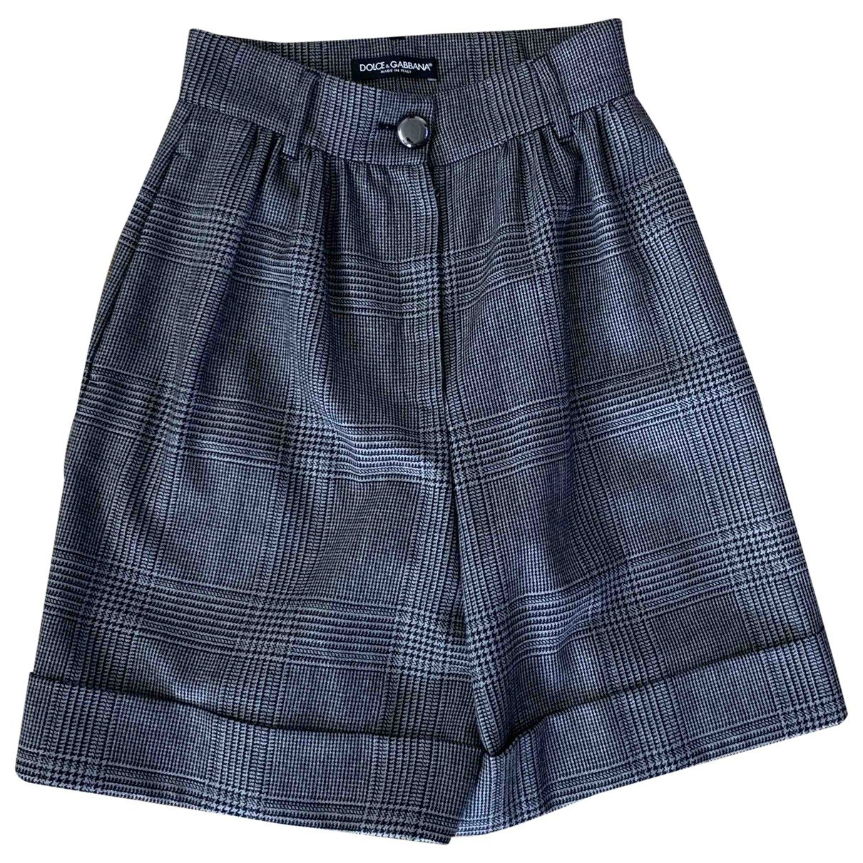 Dolce & Gabbana N Anthracite Wool Shorts for Women