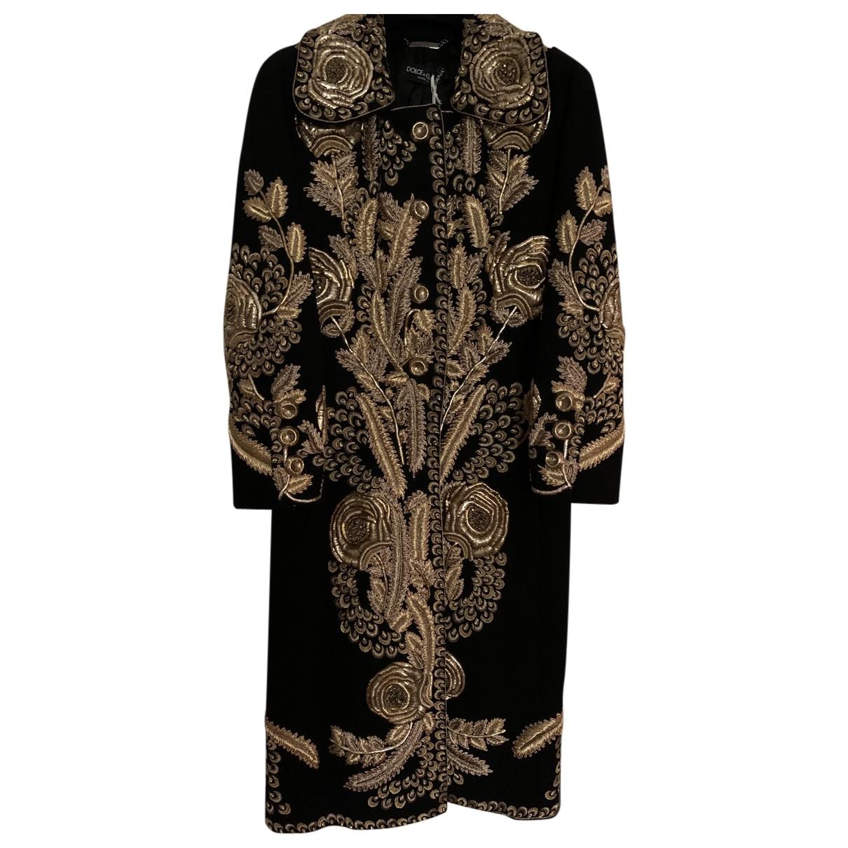 Dolce & Gabbana N Black Cashmere Coat for Women