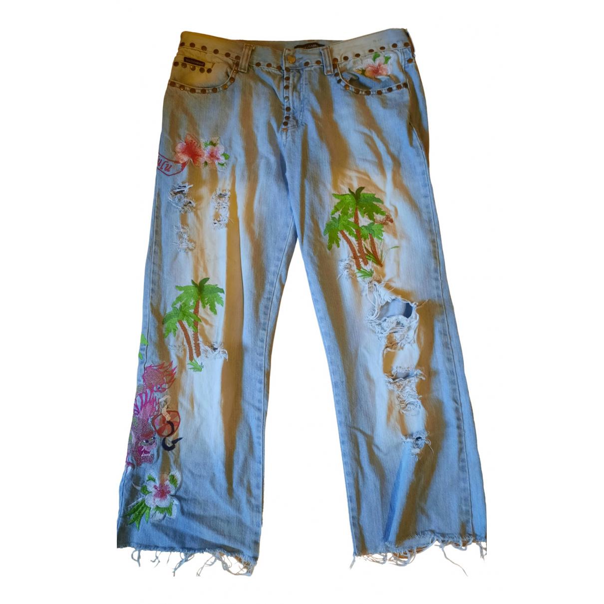 Dolce & Gabbana N Blue Cotton Jeans for Men