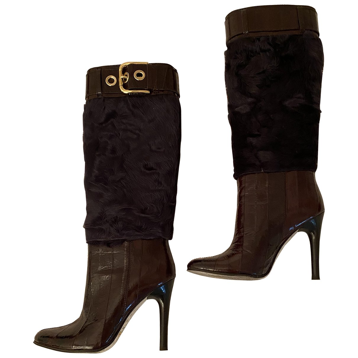 Dolce & Gabbana N Brown Leather Ankle boots for Women