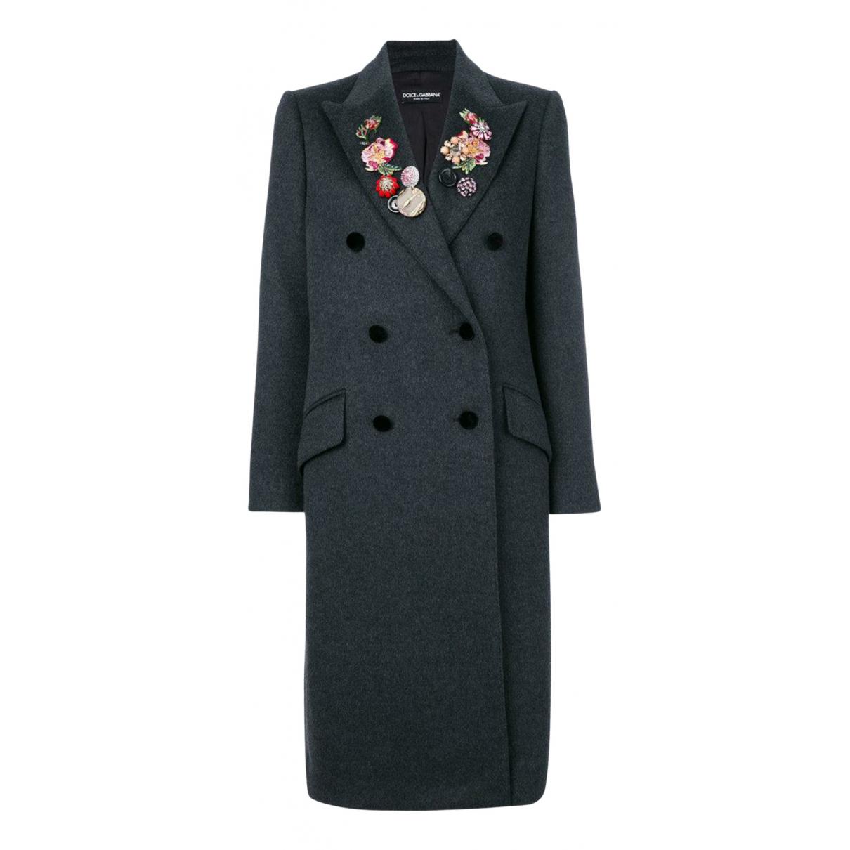 Dolce & Gabbana N Grey Wool Coat for Women