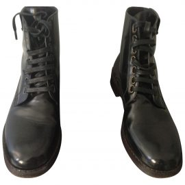 Dolce & Gabbana Patent leather biker boots