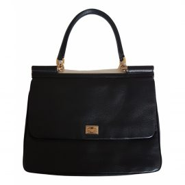 Dolce & Gabbana Sicily Black Leather Handbag for Women