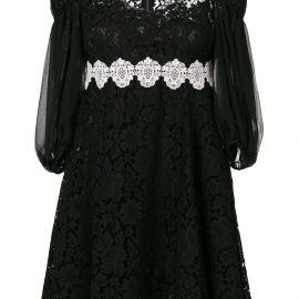 Dolce & Gabbana broderie anglaise lace dress - Black
