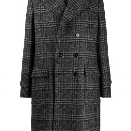 Dolce & Gabbana checked double-breasted coat - Black