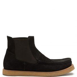 Dolce & Gabbana corduroy suede Chelsea boots - Black