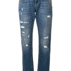 Dolce & Gabbana distressed effect jeans - Blue