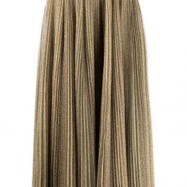 Dolce & Gabbana glitter pleated midi skirt - Gold