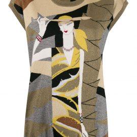 Dolce & Gabbana lurex intarsia knit sweater vest - GOLD
