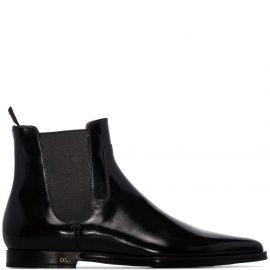Dolce & Gabbana patent Chelsea boots - Black
