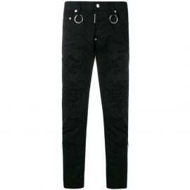 Dsquared2 Distressed Slim Jeans Black Colour: BLACK, Size: 34 30