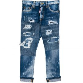 Dsquared2 Kids Glam Head Jeans Blue Colour: LIGHT BLUE, Size: 10 YEARS